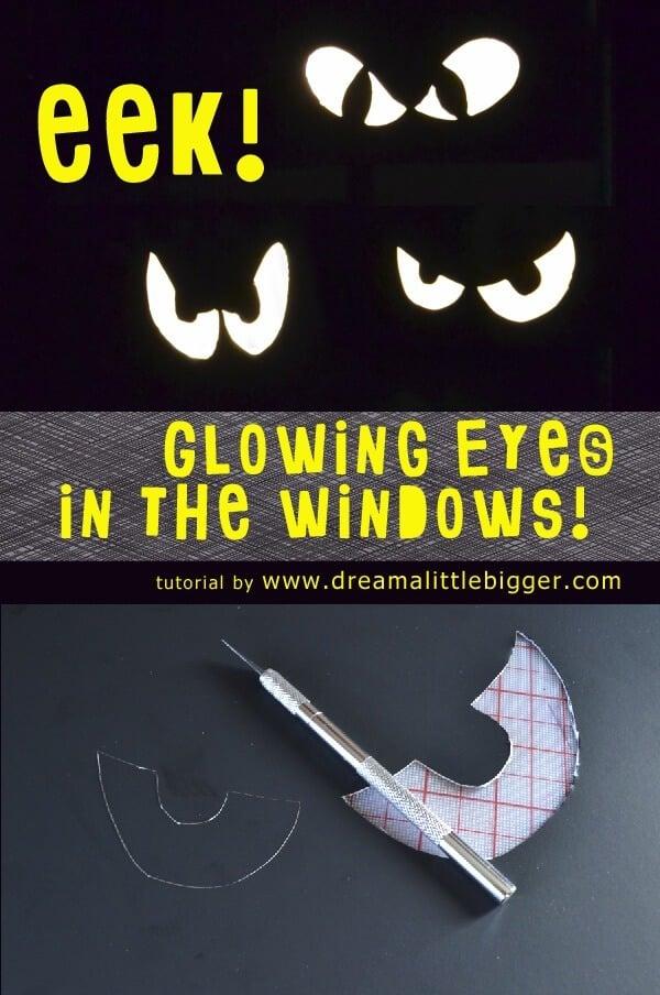 Glowing Spooky Eyes in the Windows Tutorial