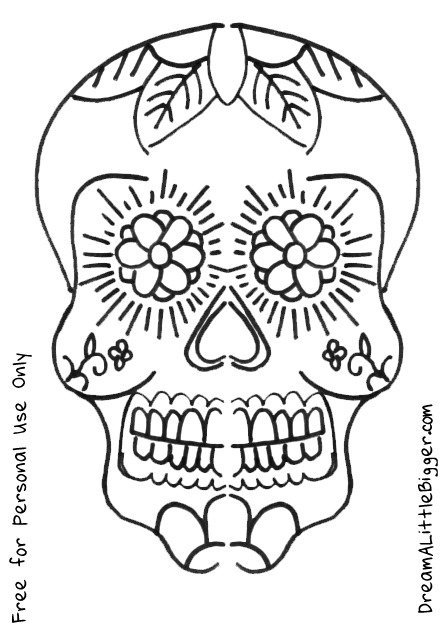 Gallery For gt Sugar Skull Template Printable