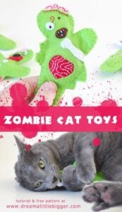 Felt Zombie Catnip Filled Cat Toys Tutorial