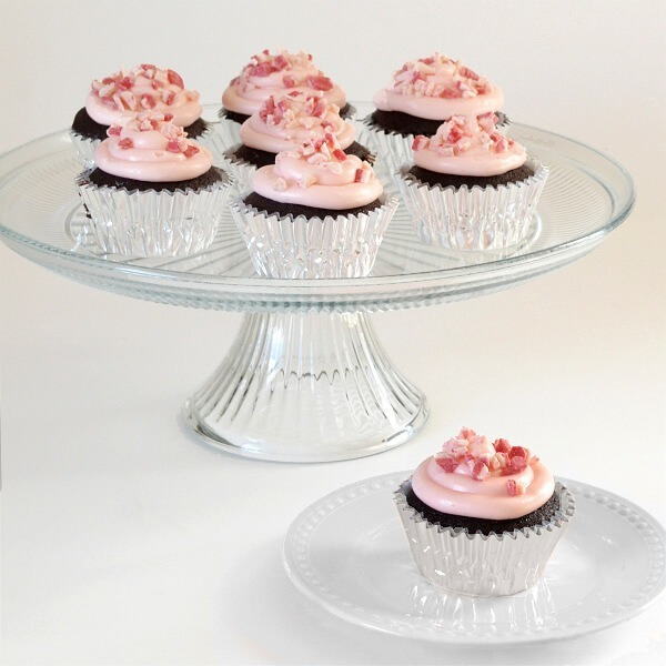 Use melted candy canes in the frosting for peppermint flavor!