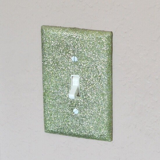 Glittered Switch Plates Tutorial