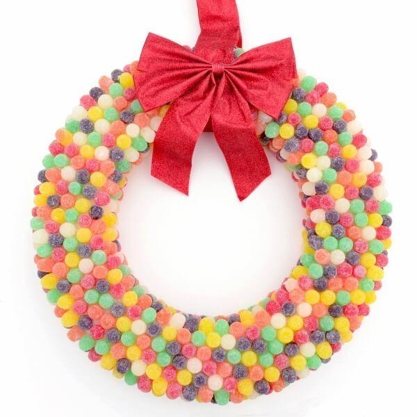 Gum Drop Wreath Tutorial