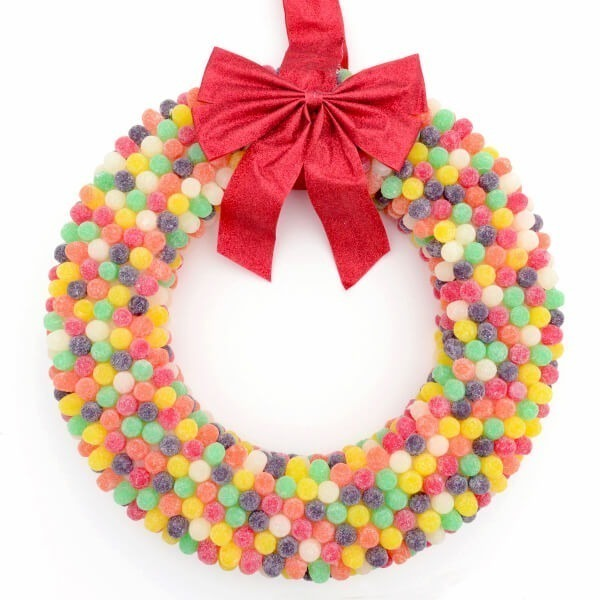 Make a sweet gumdrop wreath perfect for the holidays!