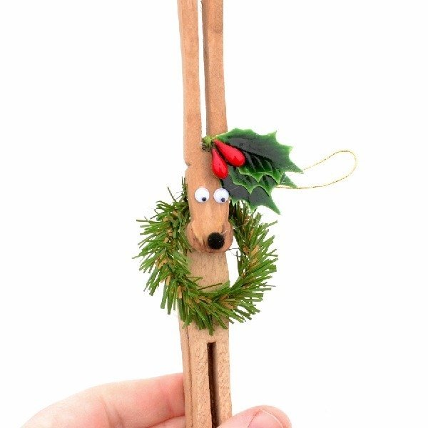 Clothespin Reindeer Ornaments Tutorial - Dream a Little Bigger