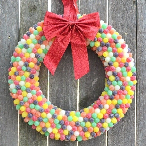 This gum drop wreath is precious and so easy to make!