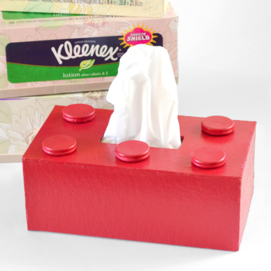 Lego Kleenex Box Cover Tutorial