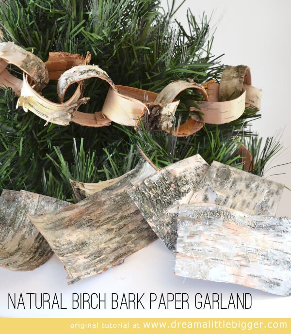 This birch garland is so pretty and so easy to make!