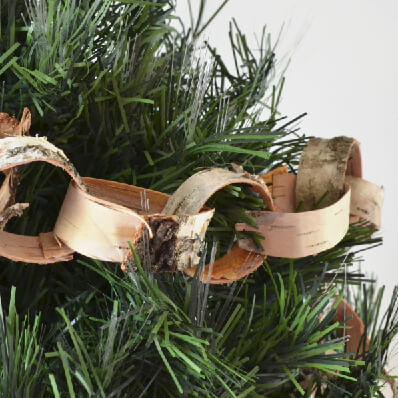 Natural Birch Bark Paper Garland Tutorial