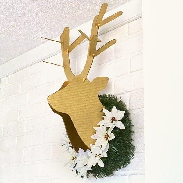 DIY Cardboard Deer Head Tutorial