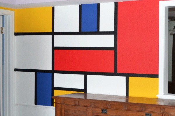 Mondrian Wall Mural Tutorial Dream A Little Bigger