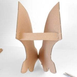Make a life-size cardboard deer head to put on your wall! FREE Pattern.