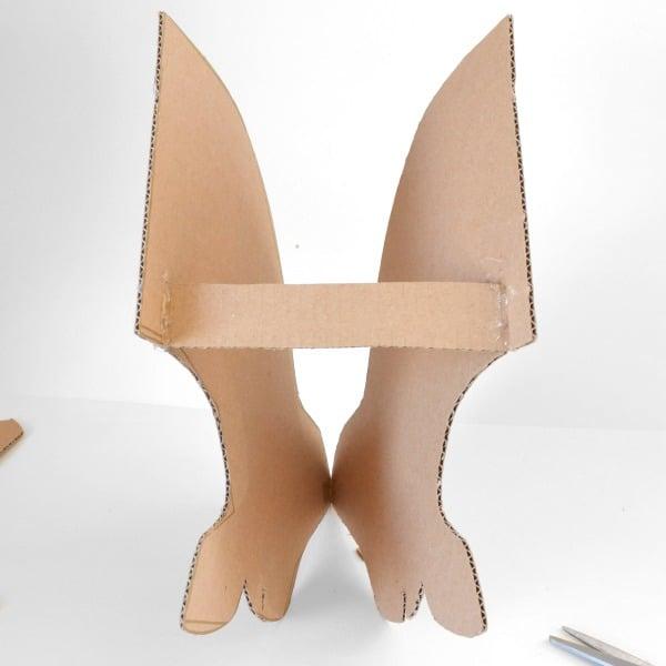 Diy cardboard deer head tutorial dream a little bigger - Cardboard stag head ...