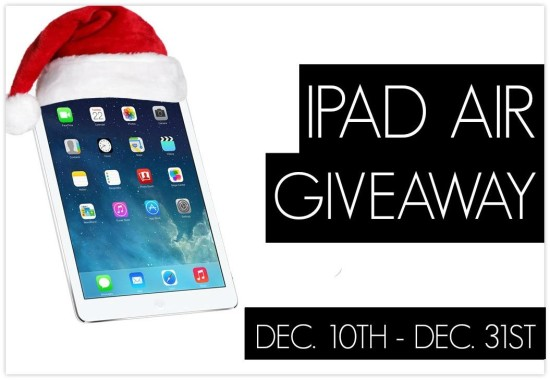 Enter to win an iPad Air! Giveaway ends Decemer 31, 2013.