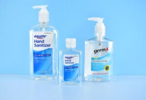 Hand Sanitizer Brands/Sizes We Used