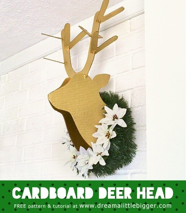 diy cardboard deer head tutorial dream a little bigger