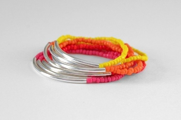Noodle Bead Stacking Bracelets Tutorial