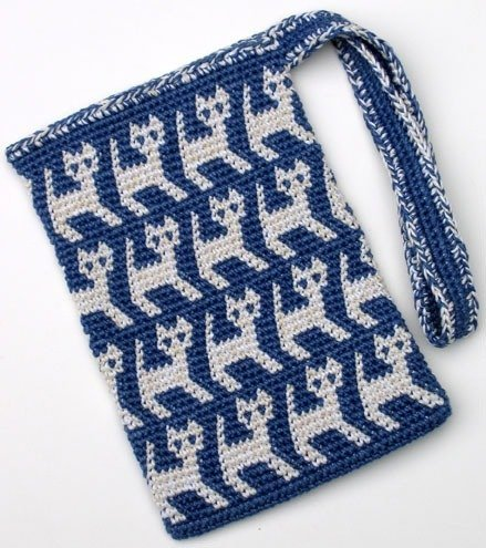 Knitted or Crochet Drawstring Ditties Bag Pattern by Bags