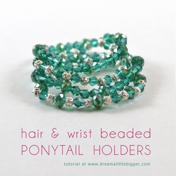 Hair   Wrist Beaded Ponytail Holders - Dream a Little Bigger e9c5436be90