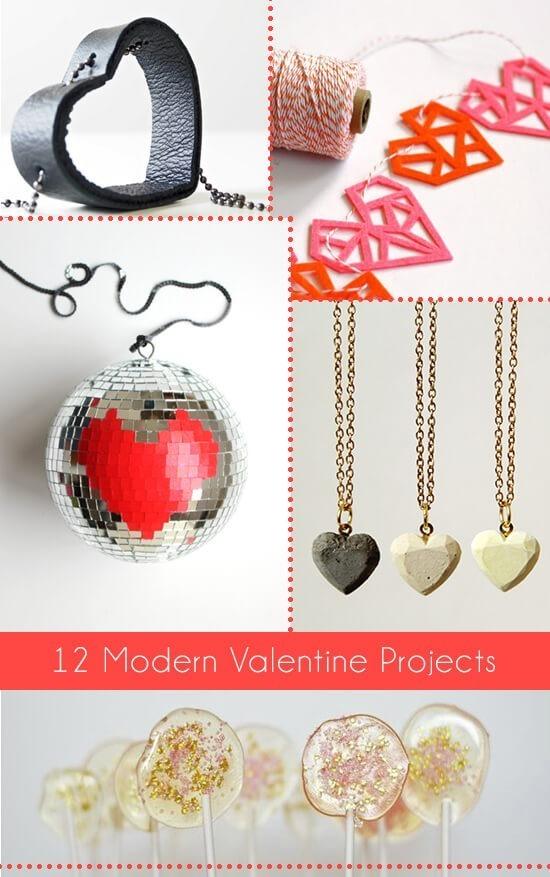 12 Modern Valentine Projects