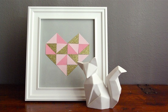 small geometric heart 5