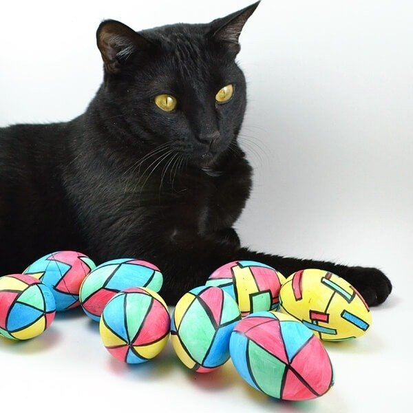 These stained glass inspired Easter Eggs are super easy to make and budget friendly and will last forever!