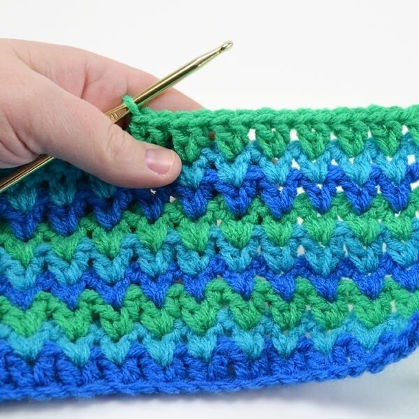 If you can double crochet, you can make an impressive pattern that doesn't require counting after row three. Check out the v double crochet stitch!