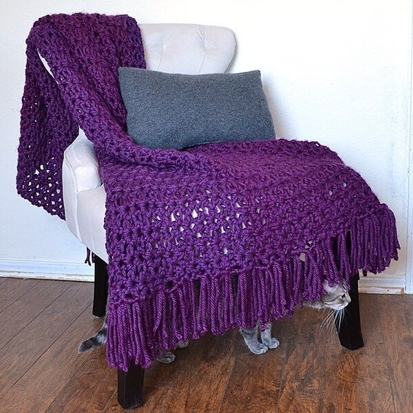 The 6 Hour Afghan Adding Fringe Tutorial Dream A