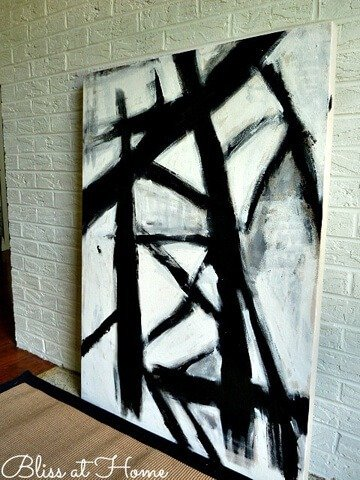 Diy modern art 18 ways dream a little bigger for Diy canvas art black and white