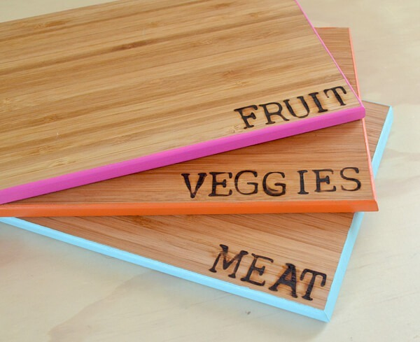 Don't cross contaminate your food, make these color coded cutting boards instead with full tutorial!