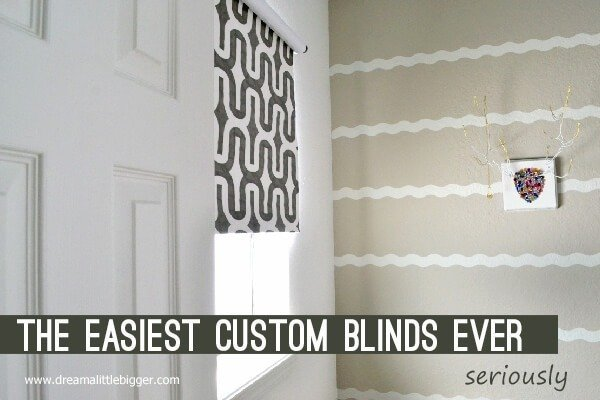 The easiest diy blinds ever seriously dream a little bigger these are the easiest diy blinds seriously this tutorial is cheap easy and solutioingenieria Gallery