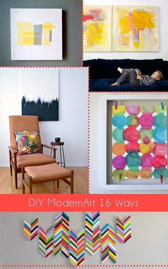 DIY Modern Art 18 Ways