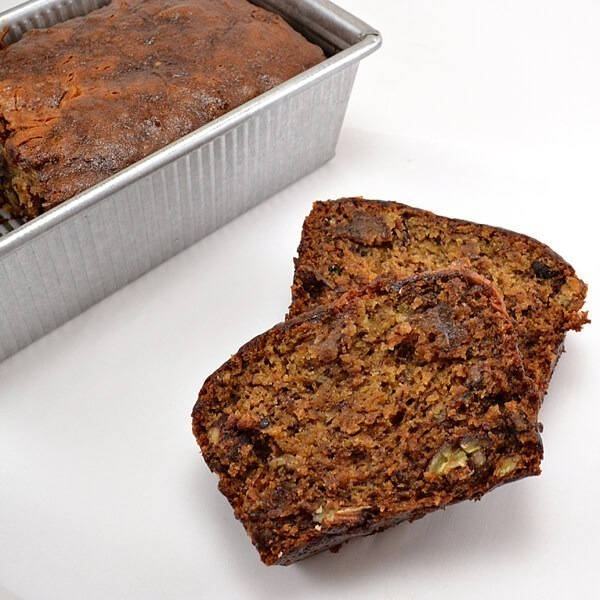 Looking for an awesome and super banana flavored banana bread? This banana bread recipe is amazing, easily gluten free with nuts or chocolate chips!