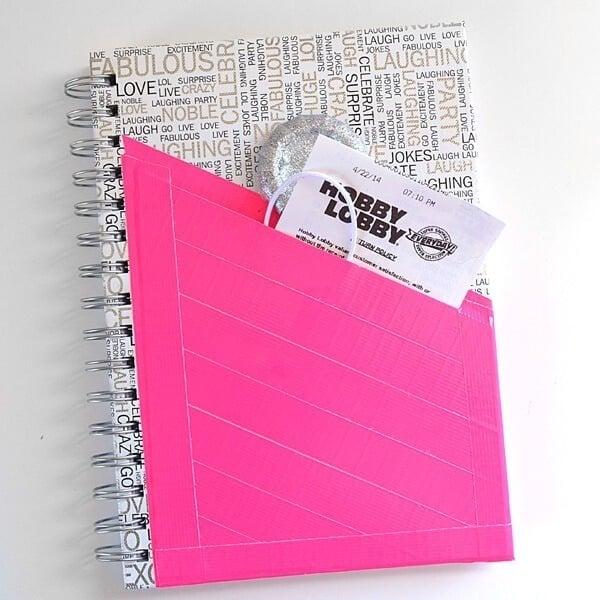 Duck Tape Pocket Notebook Tutorial Dream A Little Bigger