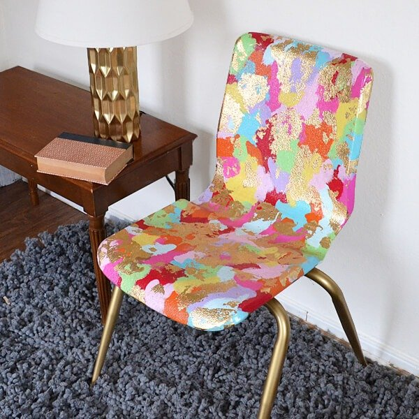 Turn A School Chair From Something Cheap To Sit On To A Piece Of Art With
