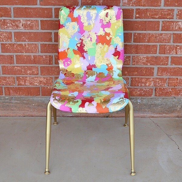 Turn a school chair from something cheap to sit on to a piece of art with this school chair makeover!