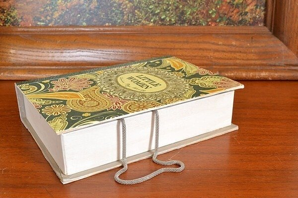 Realistic Book from a Paper Mache Jewelry Box Tutorial