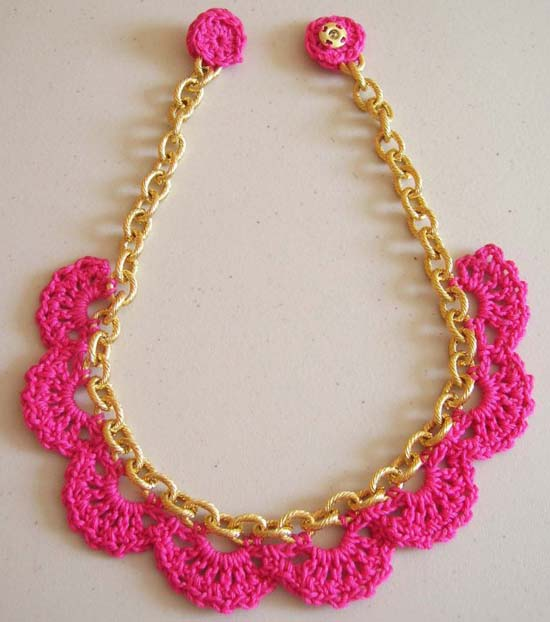 Crochet Patterns Necklace : ... crochet necklace from Miss P. Grab your crochet hook and prepare to