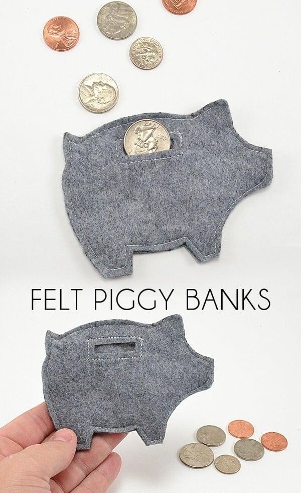 Felt Piggy Banks Tutorial