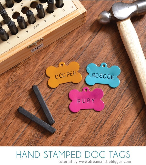 What pooch wouldn't love these hand stamped dog tags?