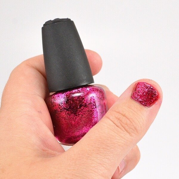 Diy glitter nail polish dream a little bigger for Diy shoes with nail polish