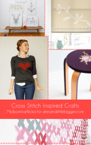 Cross Stitch Inspired Crafts Roundup | Midsommarflicka for Dream A Little Bigger