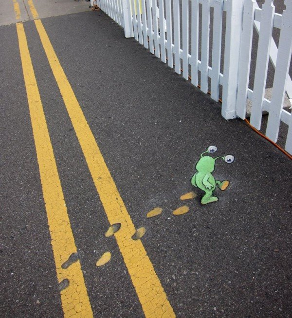 The Internet is Awesome. David Zinn... cutie patootie chalk artist.