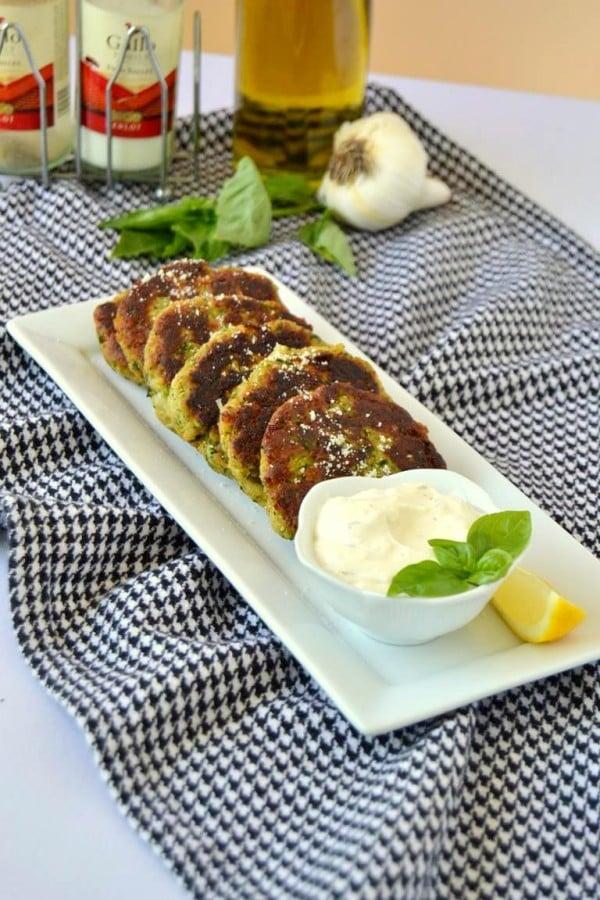 Tattooed Martha - Zucchini Cakes with Lemon Parmesan Aioli (7)