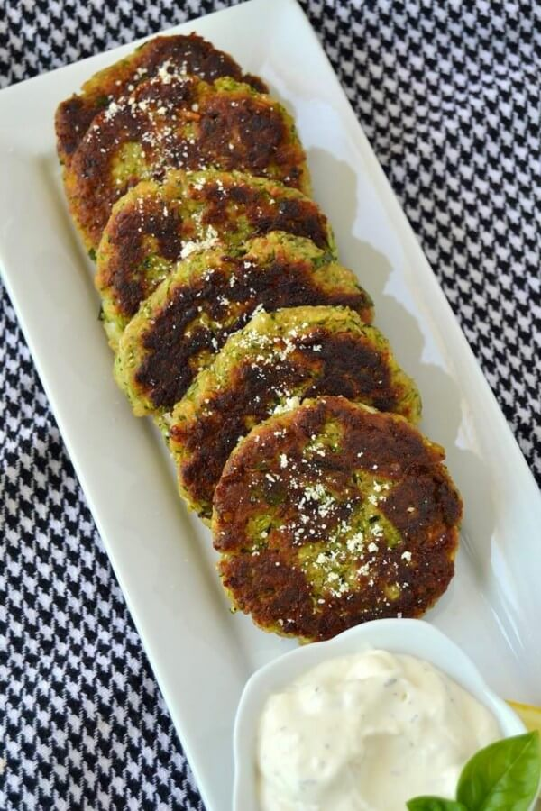 Tattooed Martha - Zucchini Cakes with Lemon Parmesan Aioli (8)