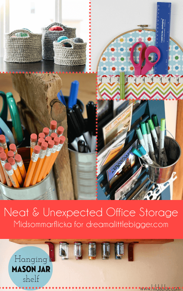 Neat & Unexpected Office Storage Roundup | Midsommarflicka for Dream A Little Bigger