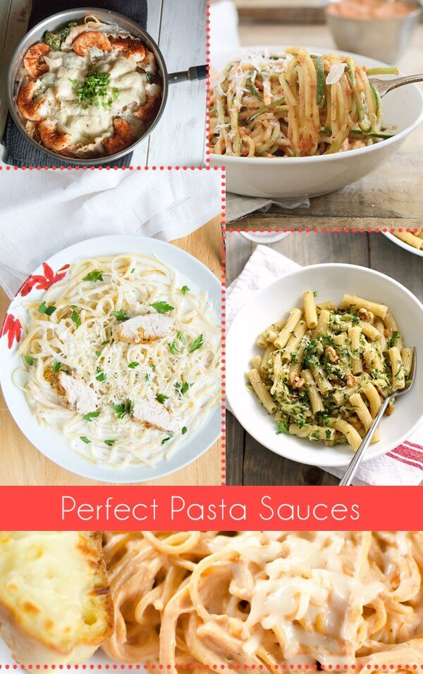 Check out these perfect pasta sauces. Great for a quick and tasty dinner!