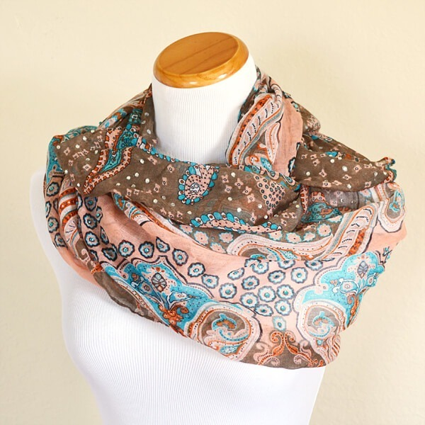 It's Scarf Week! Check out scarf 1 - the Easy Bling Scarf!