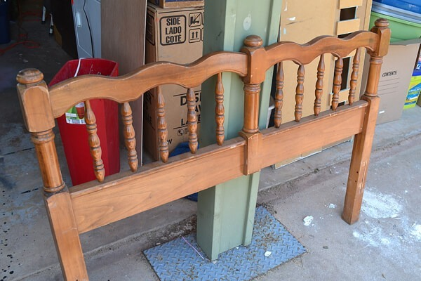 Turn an unused headboard and foot board into a fabulous front porch bench!