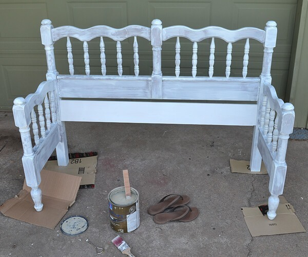 Upcycled Bed To Bench Tutorial Dream A Little Bigger