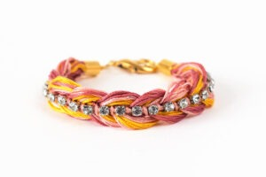 This is a friendship bracelet all grown up and it's so pretty! Get the tutorial at Dream a Little Bigger and get the kit it inspired at Darby Smart!